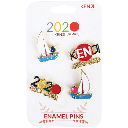 Metal Pin Badge 4pcs - 2020 Sail