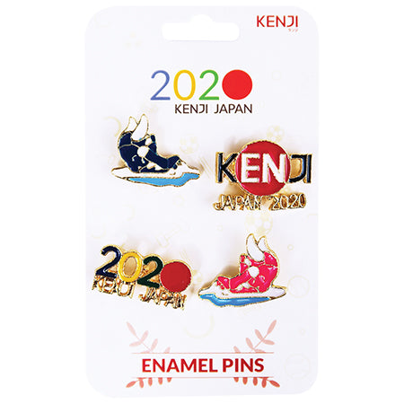 Metal Pin Badge 4pcs - 2020 Swim