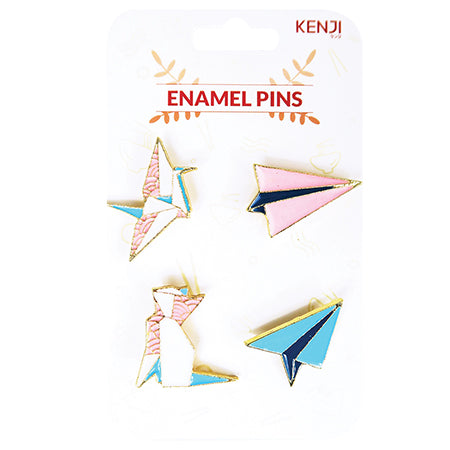 Metal Pin Badge 4pcs - Plane