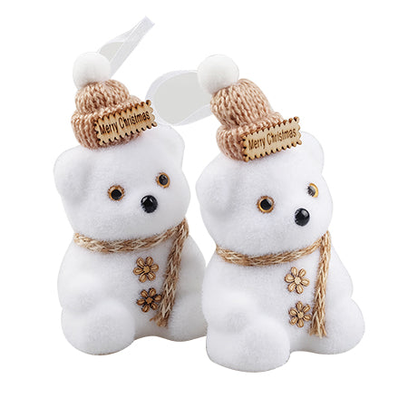 Xmas Twin White Bear