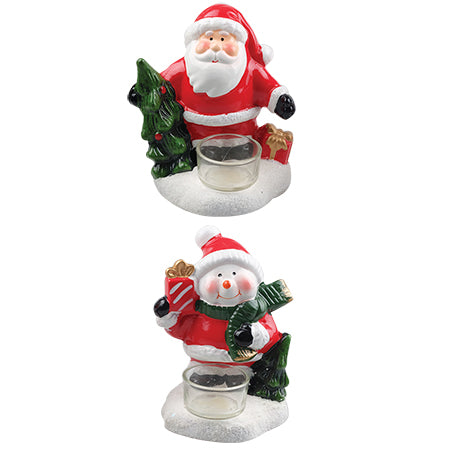 Xmas Tealight Glass Holder