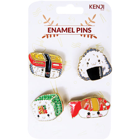 Metal Pin Badge 4pcs - Sushi