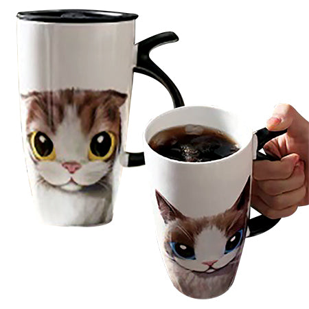 Chita Tall Big Eye Cat Mug