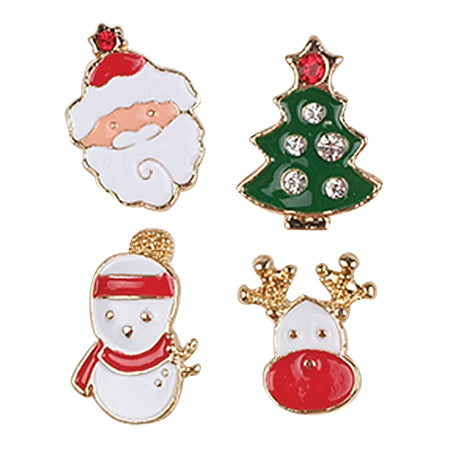 Metal Pin Badge - 4 Santa