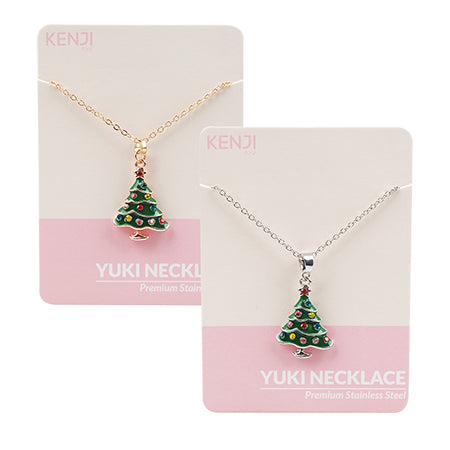Yuki Necklace - Green tree