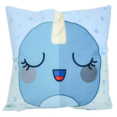 Cushion Cover - Fantasy Narwhal