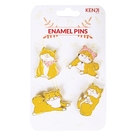Metal Pin Badge 4pcs - Shiba
