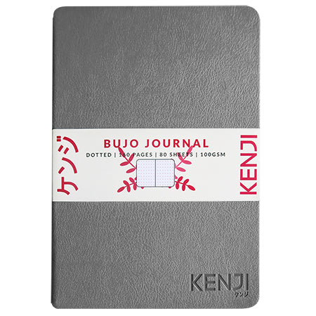 Bujo Line Notebook - PU Grey