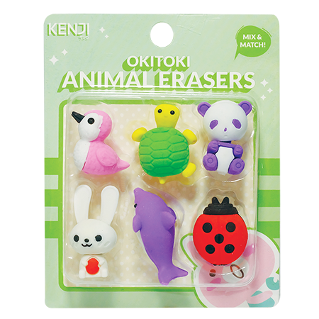 Okitoki Eraser Set Of 6