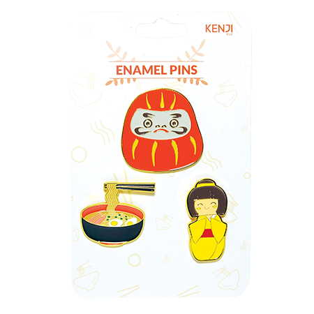Metal Pin Badge 3pcs - Element