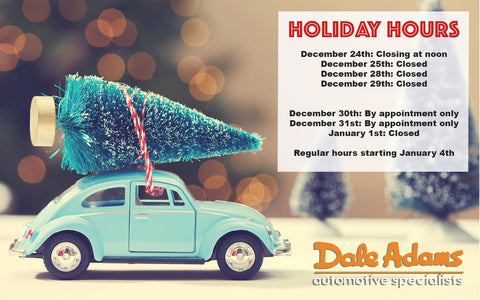 Dale Adams Holiday Hours