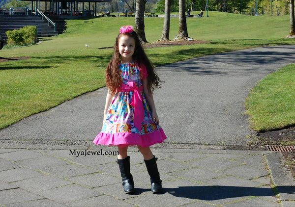 Awesome Ruffle Dress made with My Little Pony / MLP fabric
