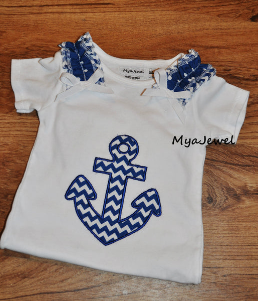 Adorable Anchor Top with Ruffles