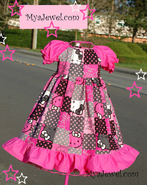 Dress made with Hello Kitty Fabric