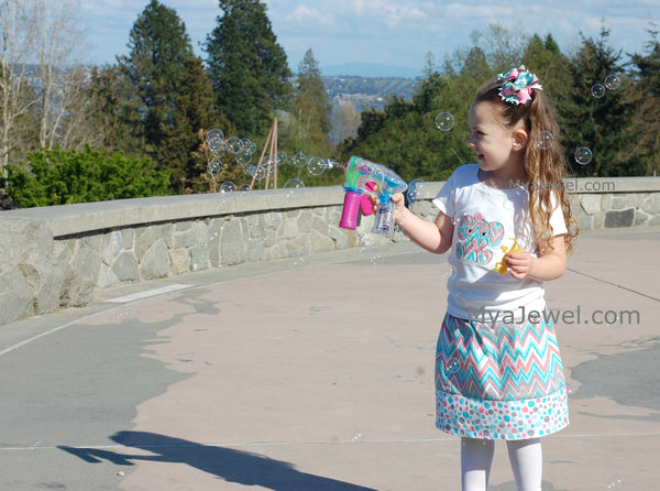 Chevron Skirt with Polkadots (Skirt only)