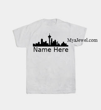 Custom Seattle Skyline Shirt with name added