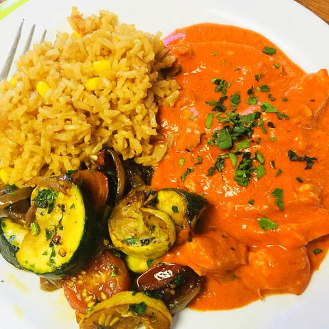 [NEW] Mexican Chicken/Paneer Stew, Mexican Rice, Mexican Zucchini & Tomatoes