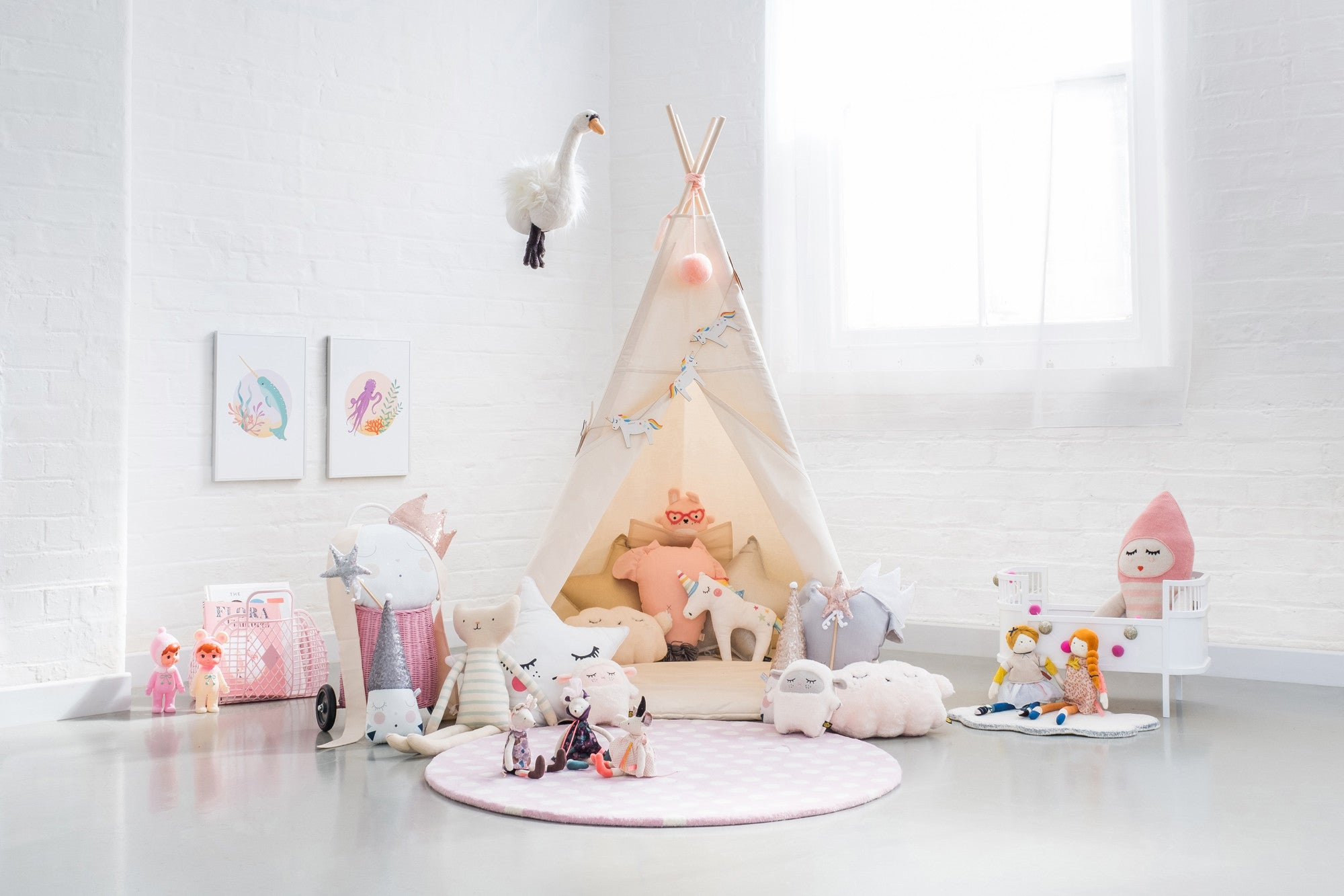 A Magic Tent Children's Play Room, styled by Bobby Rabbit.