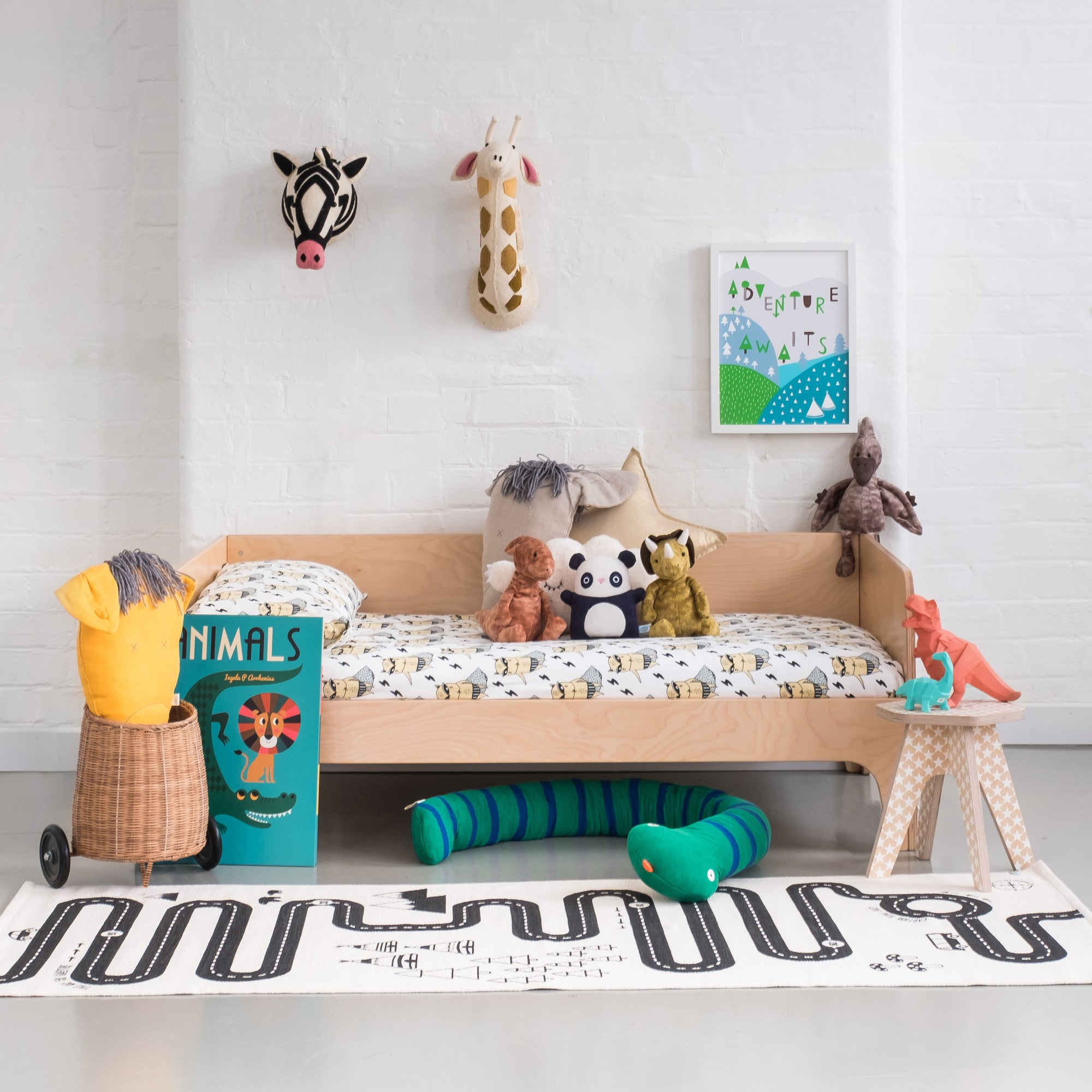 An Animal Adventure, children's bedroom styled by Bobby Rabbit.