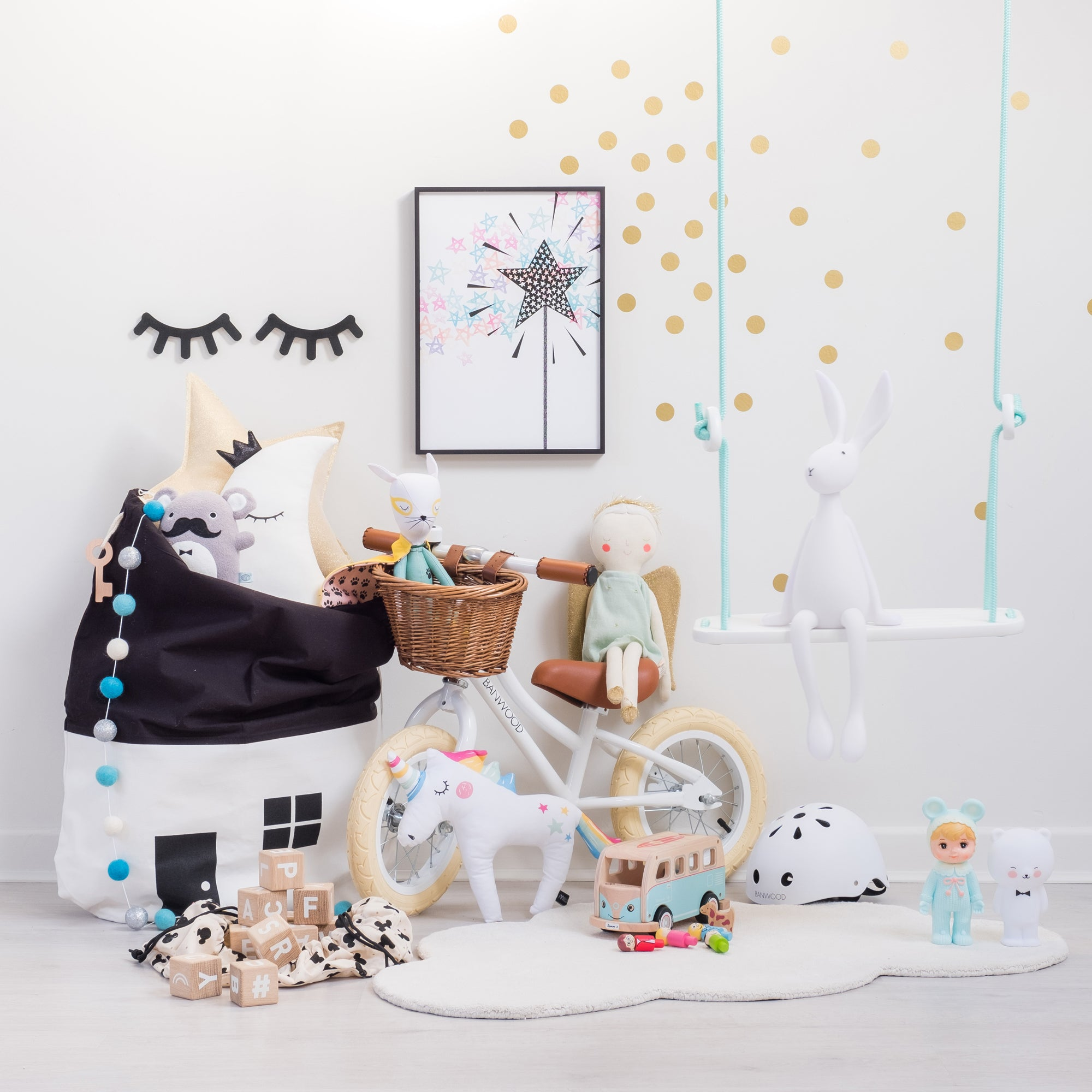 Toys and children's home accessories, available at Bobby Rabbit.