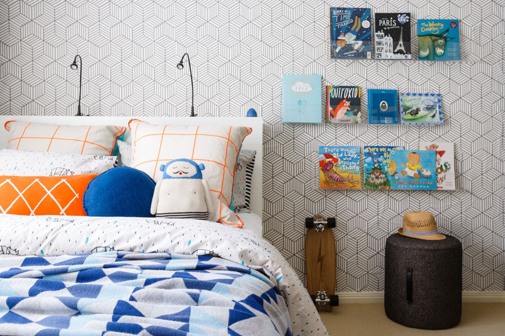 Boys Bedroom, styled by Little Liberty Rooms, as featured on Bobby Rabbit.