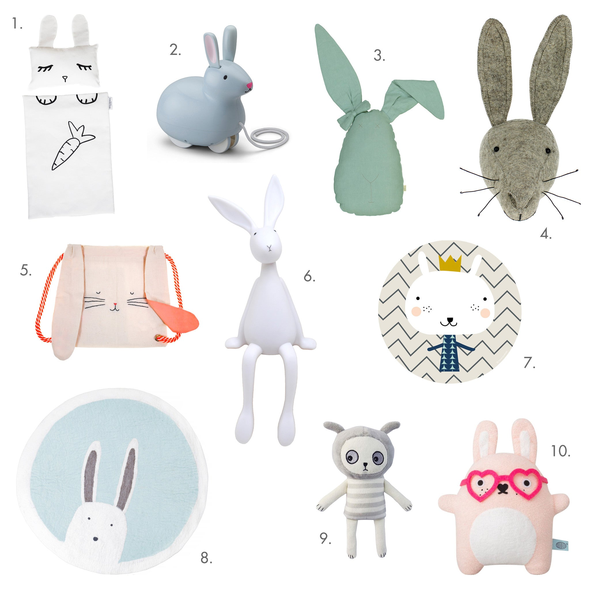 Bunny Rabbit Toys and Accessories from Bobby Rabbit.