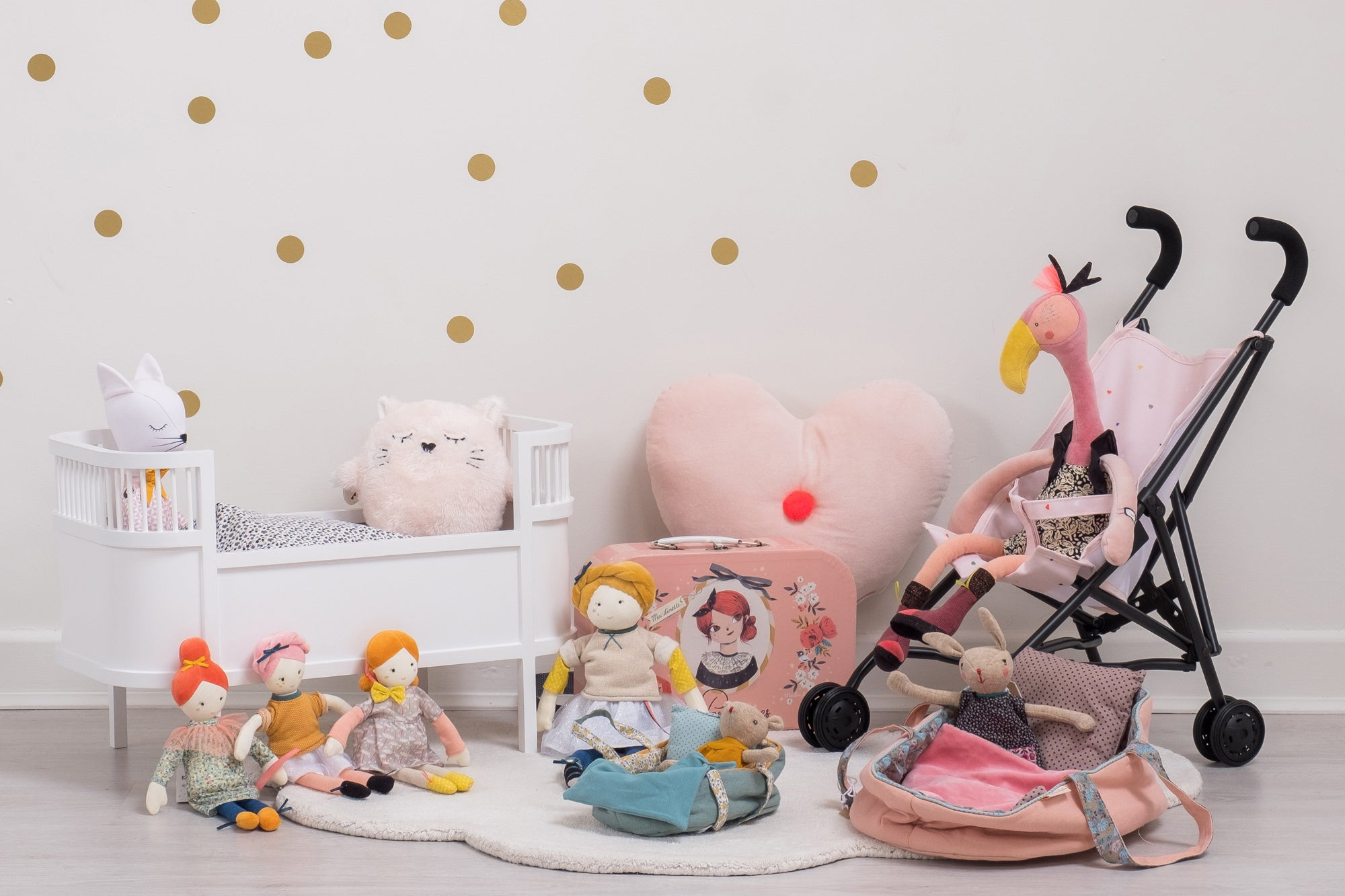 Toys and children's bedroom accessories, styled by Bobby Rabbit.