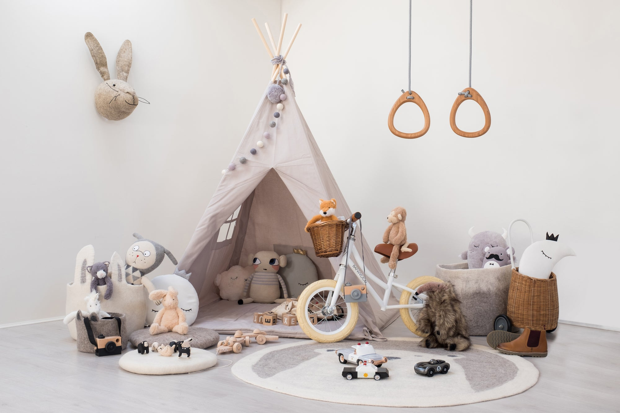 Down To The Woods Children's Playroom by Bobby Rabbit.