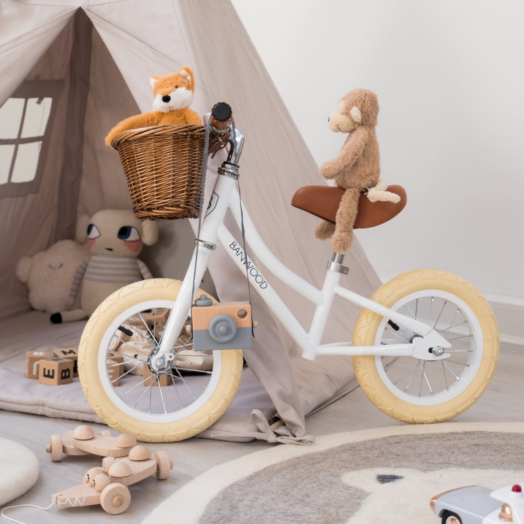 First Go Balance Bike by Banwood, styled by Bobby Rabbit.