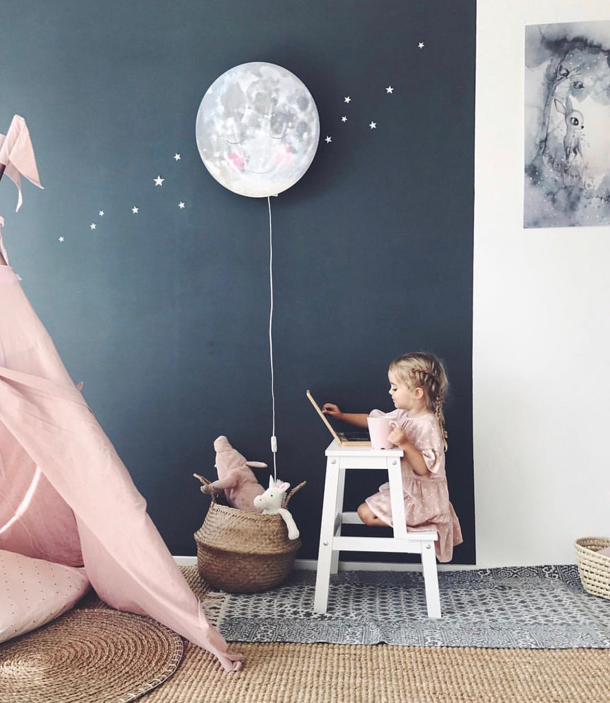 Space-themed girl's room by Valerie and Heiko.