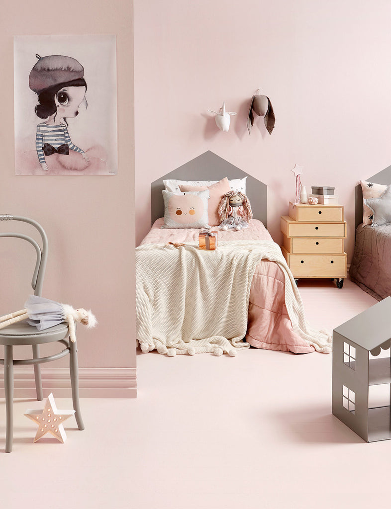 Girls' shared room, as seen on Homes To Love and featured on Bobby Rabbit.