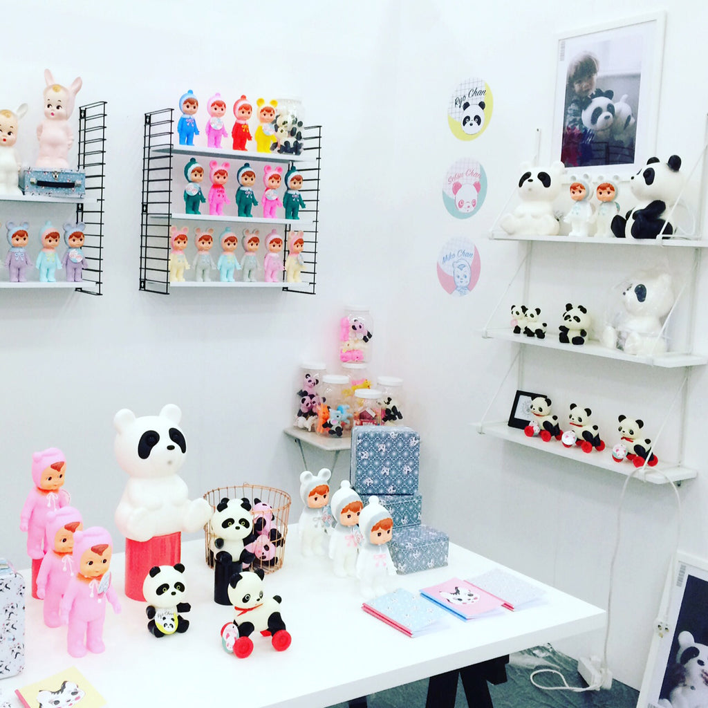 Lapin and Me at Top Drawer London - panda toys, lamps and woodland dolls, available at Bobby Rabbit