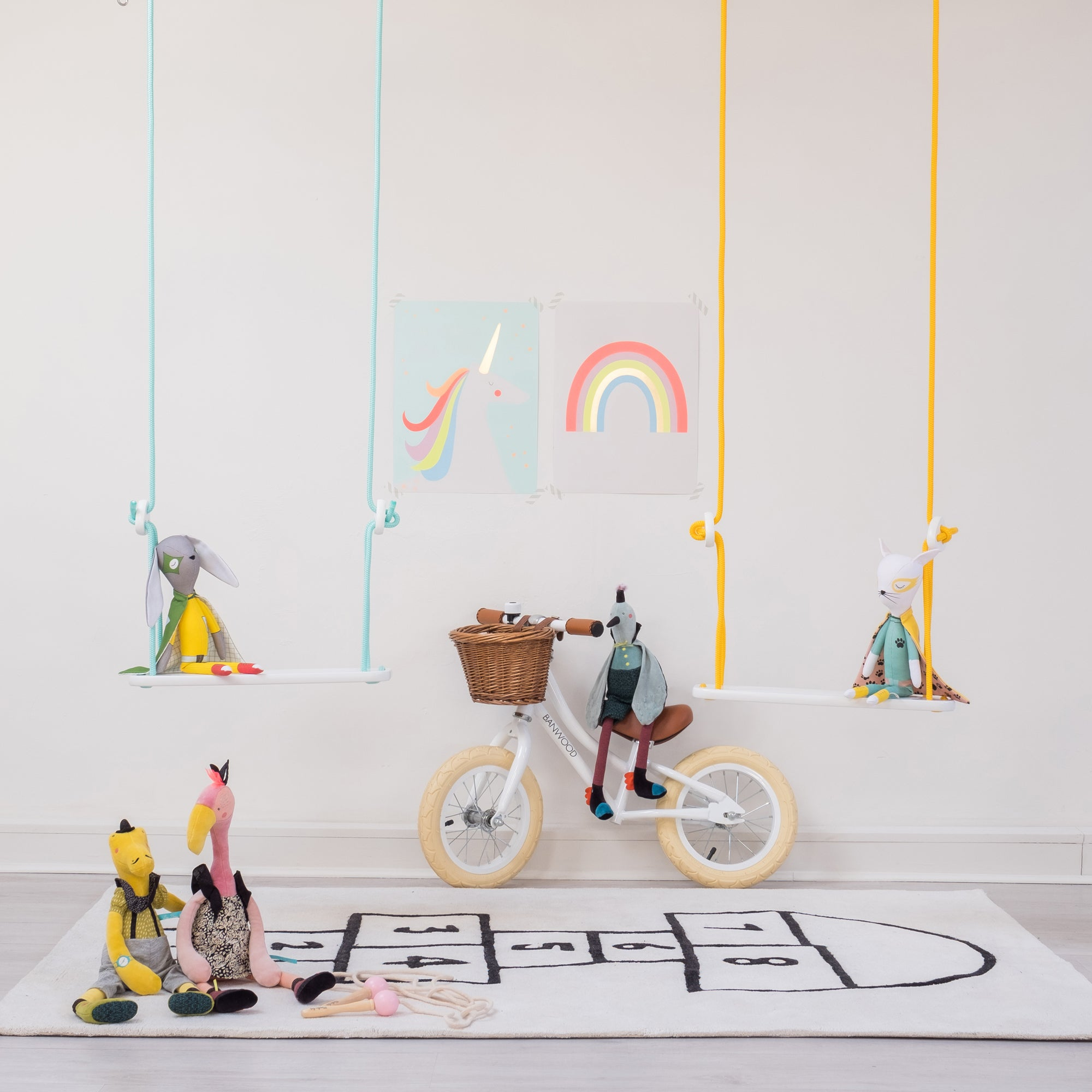 Toys and children's bedroom accessories, available at Bobby Rabbit.