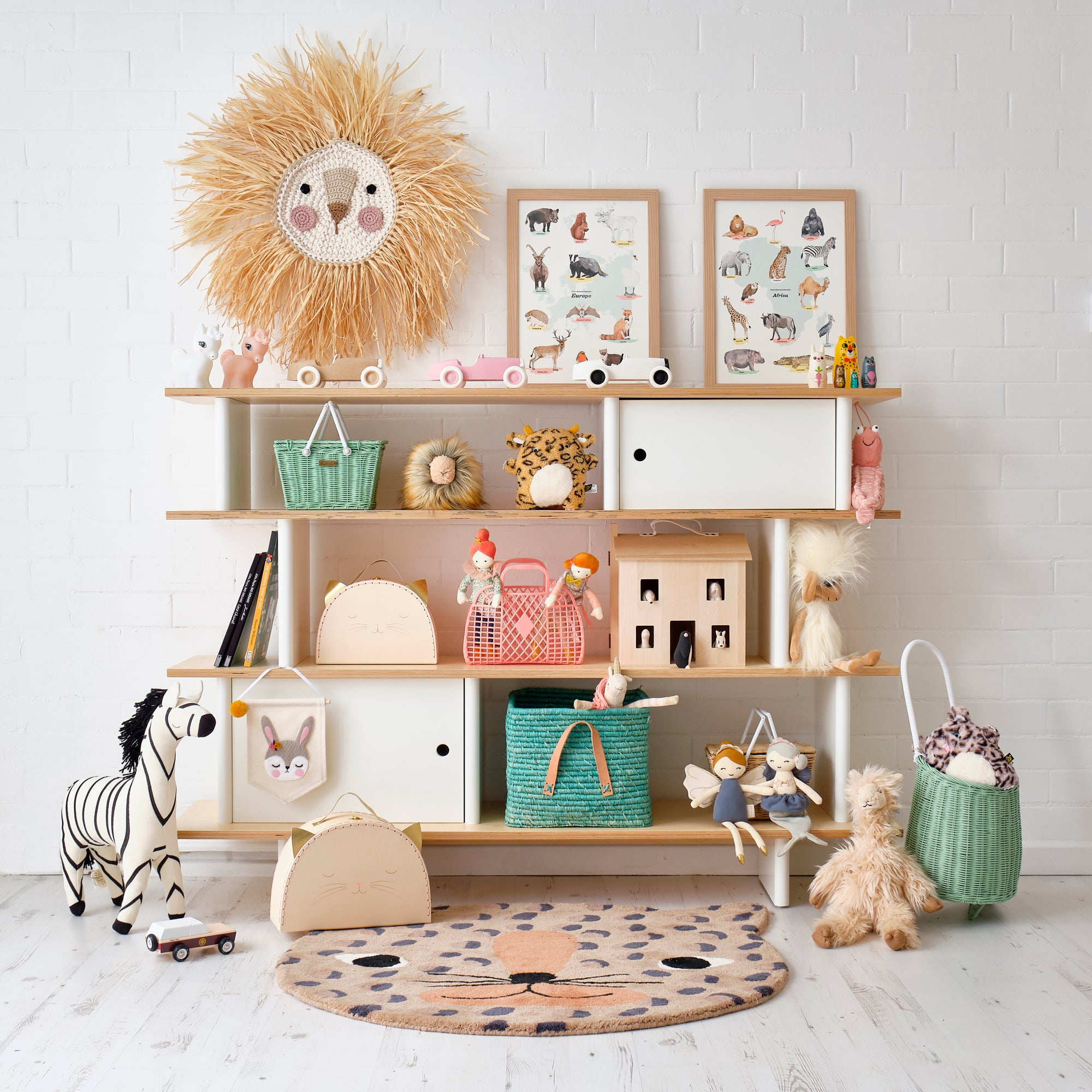 Mini Library Shelf, Toys and Accessories, styled by Bobby Rabbit.