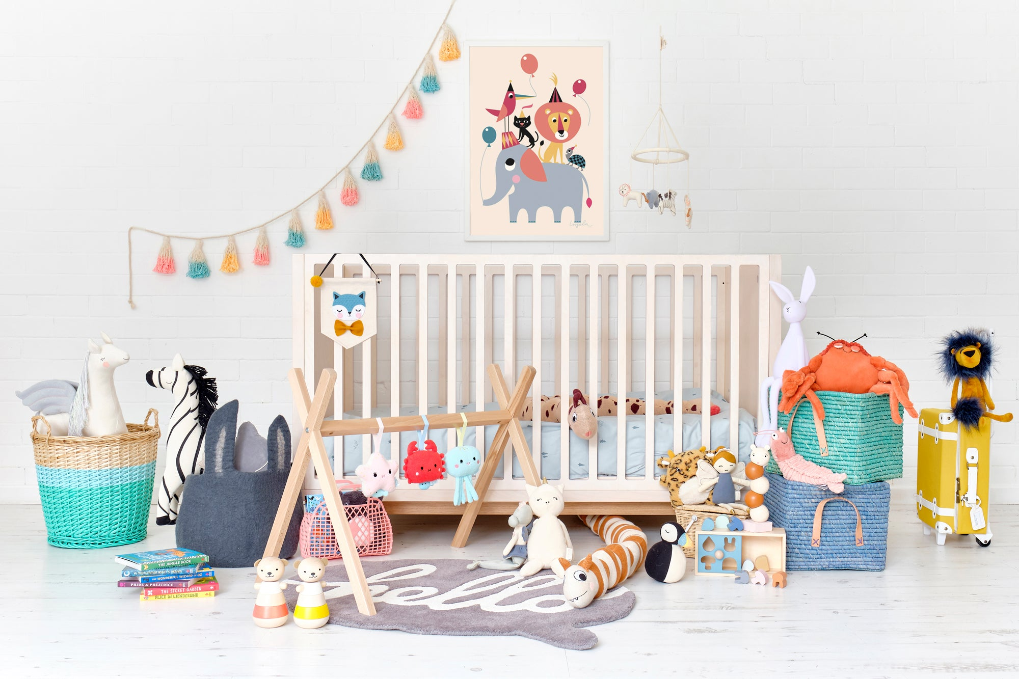 'One Big World' Nursery, Toys and Accessories, styled by Bobby Rabbit.