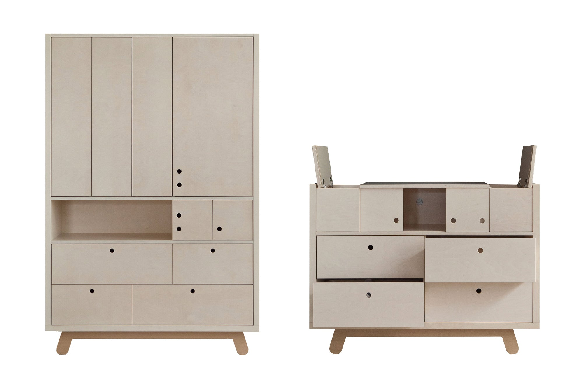 Peekaboo Nursery Furniture by Kutikai, available at Bobby Rabbit.