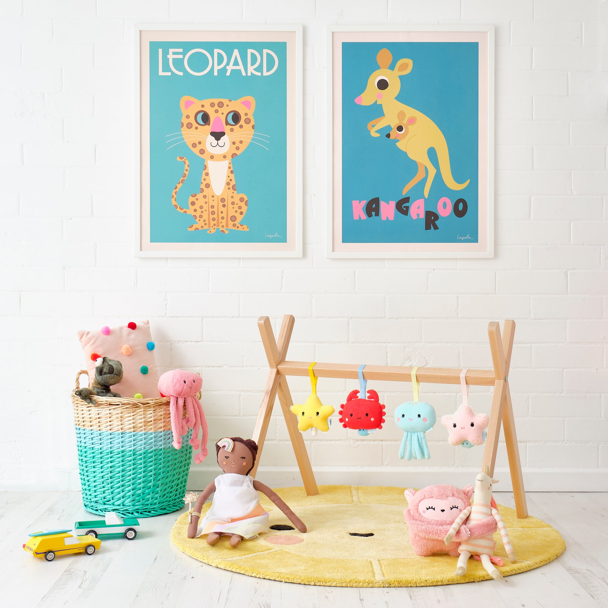 Play Gym, Posters and Toys, styled by Bobby Rabbit.