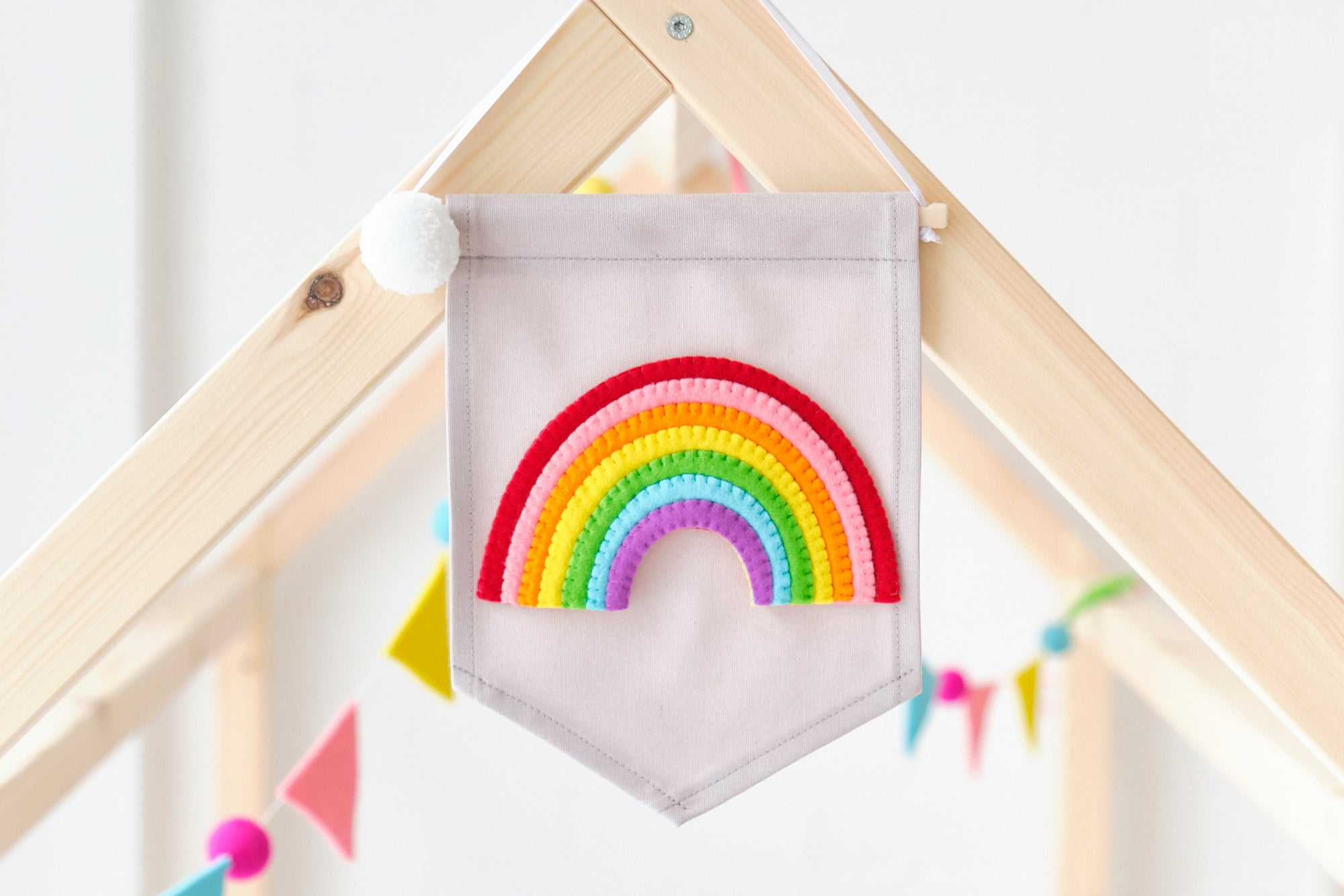 Rainbow Banner and Bunting by Noodledollnelly, available at Bobby Rabbit.