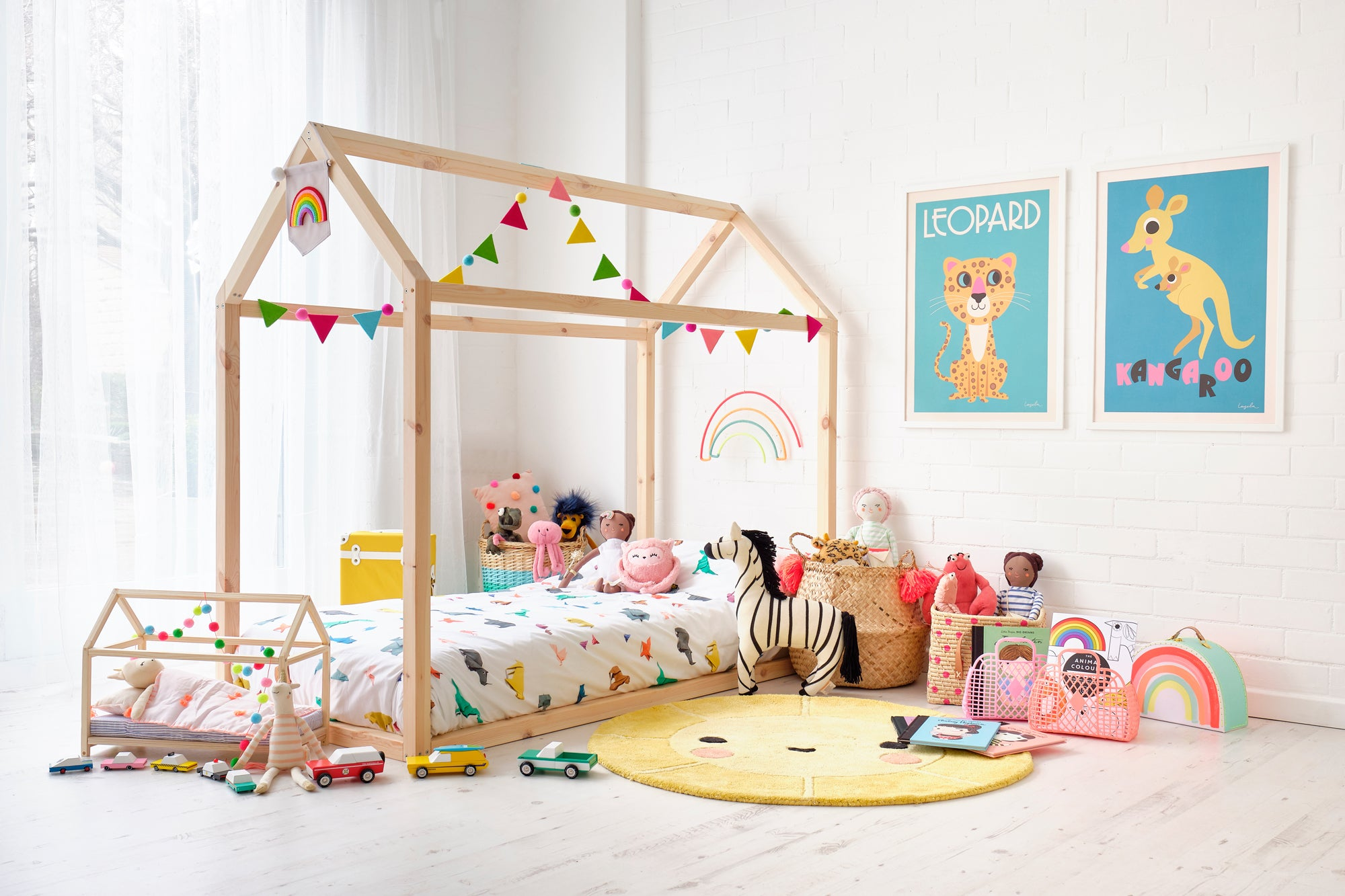 'Rainbow Bright' Children's Bedroom, Toys and Accessories, styled by Bobby Rabbit.