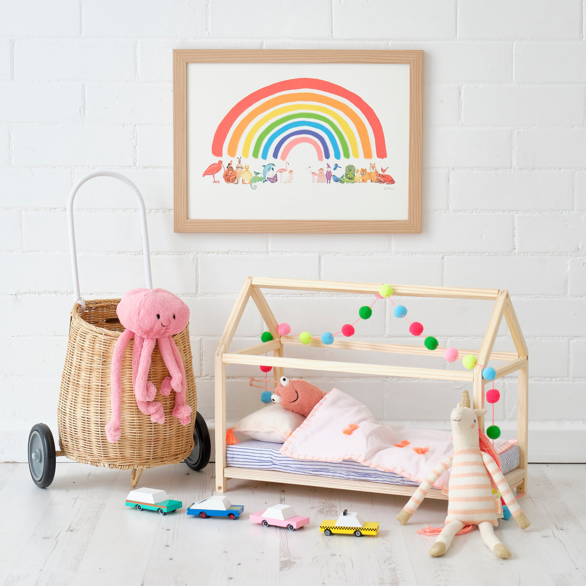 Dolls House Bed, Toys and Accessories, styled by Bobby Rabbit.