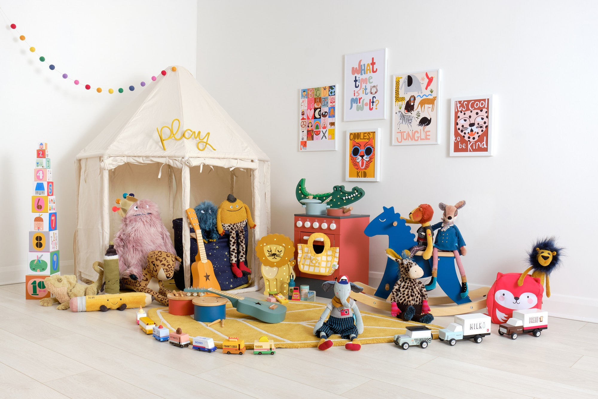 'Rock and Roll!' Children's Playroom, Toys and Accessories, styled by Bobby Rabbit.