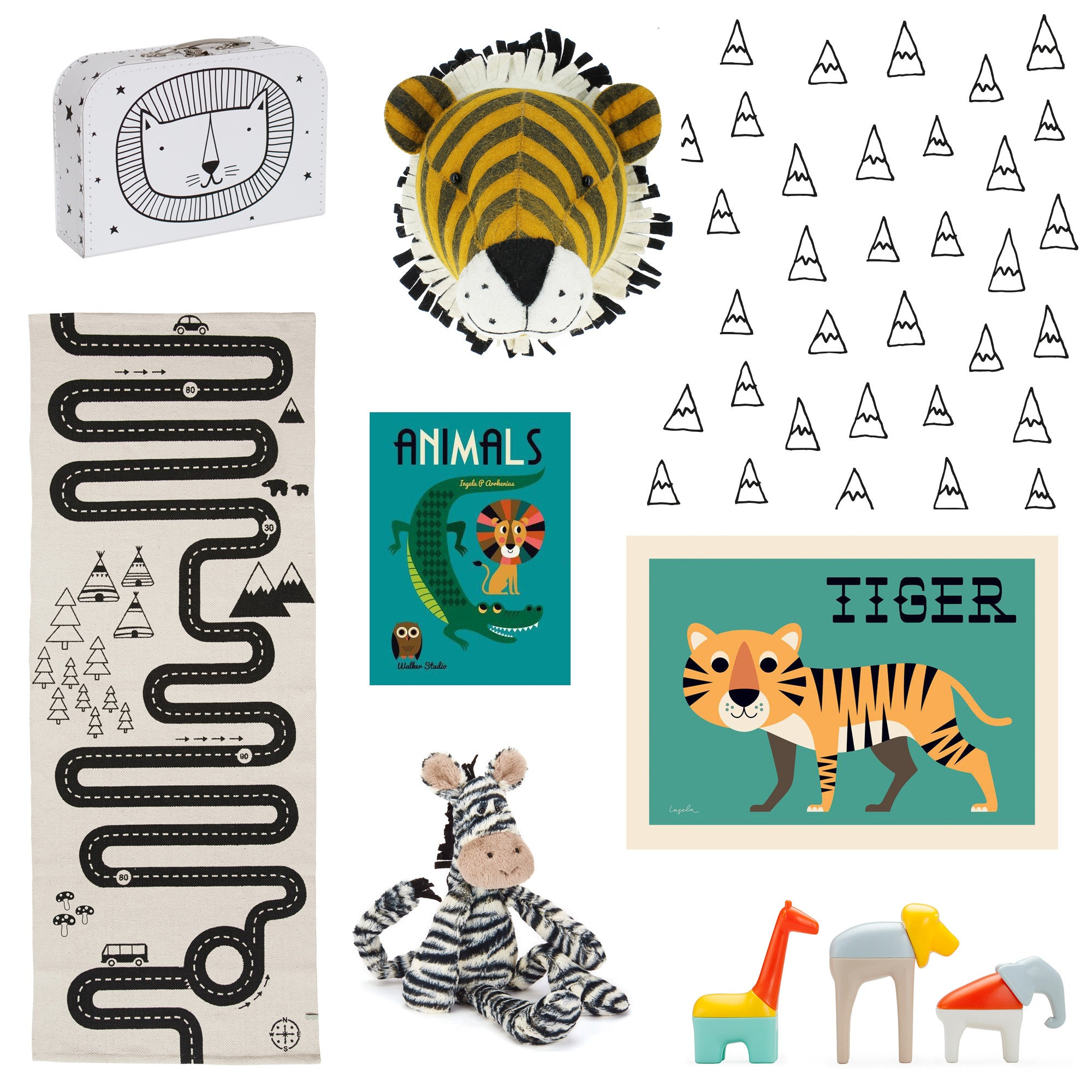 Safari Style inspiration board by Bobby Rabbit.