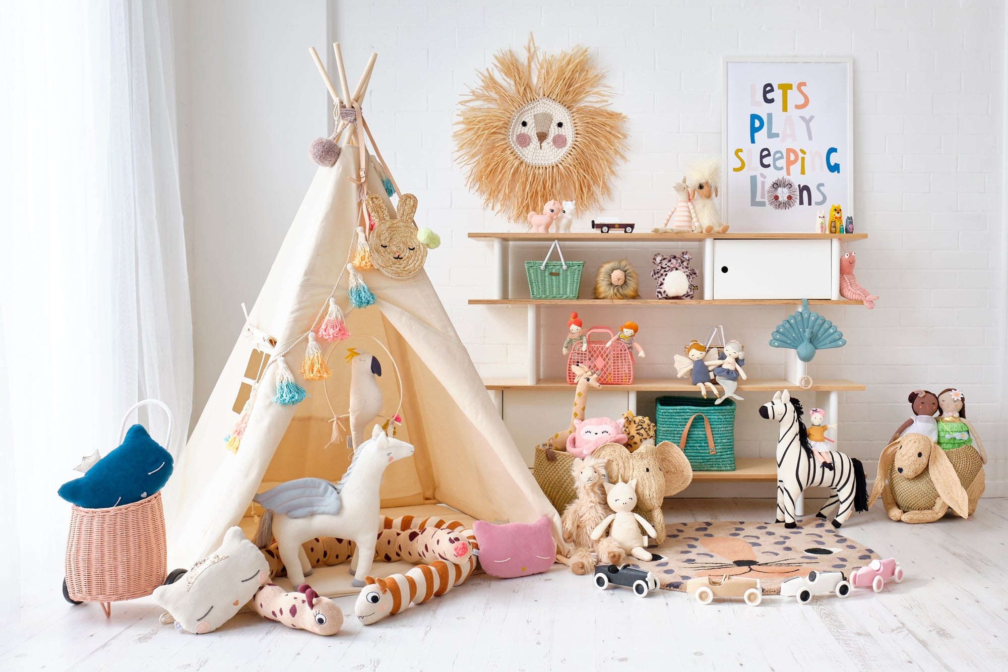 'Savannah!' Children's Playroom, Toys and Accessories, styled by Bobby Rabbit.