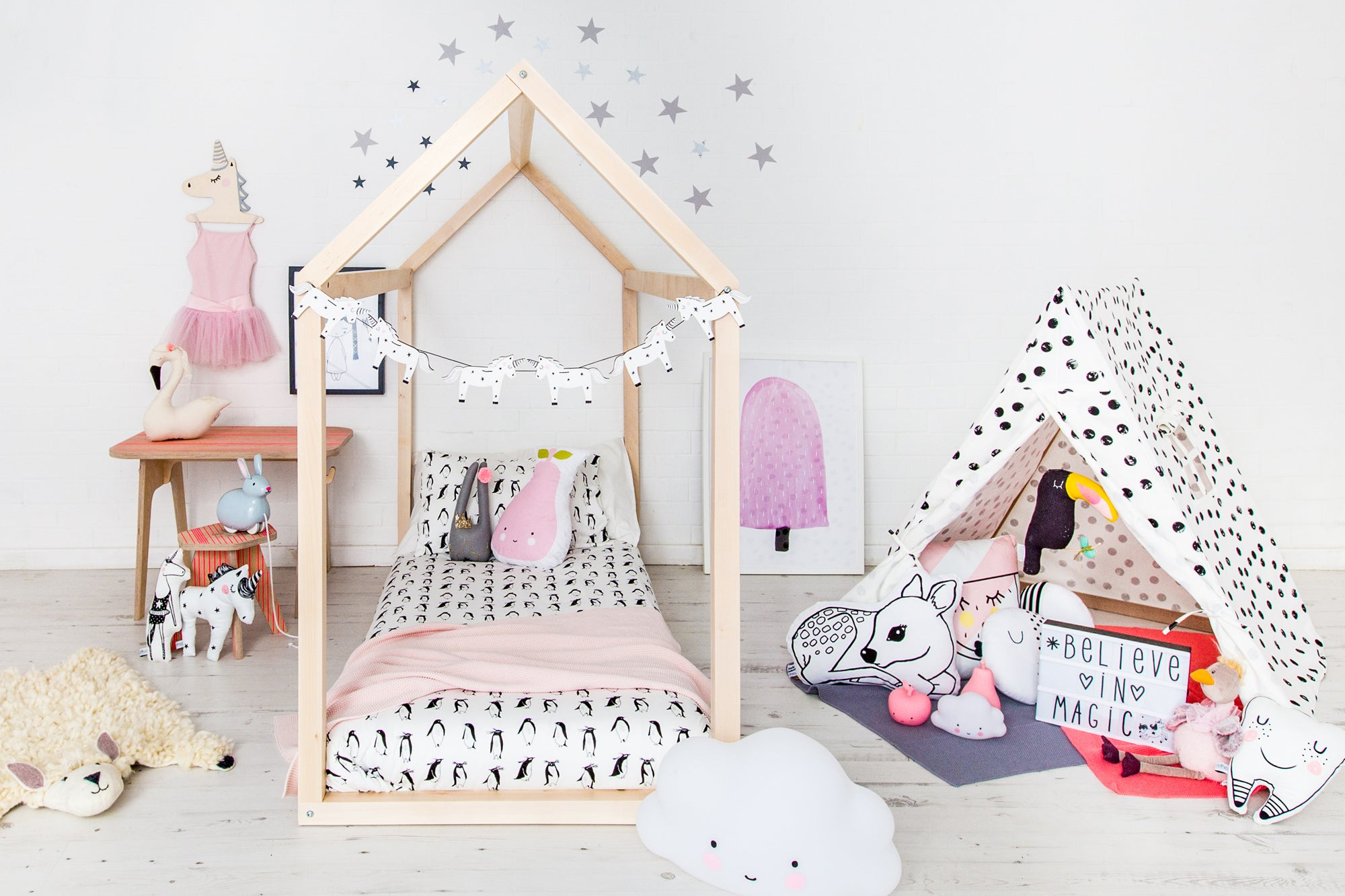 Stardust and Unicorns Children's Bedroom, designed and styled by Bobby Rabbit.