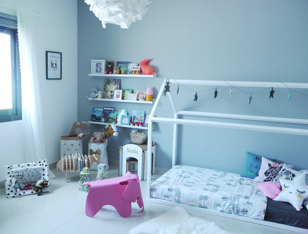 Stella and The Stars - a girl's room makeover featuring Bobby Rabbit products.