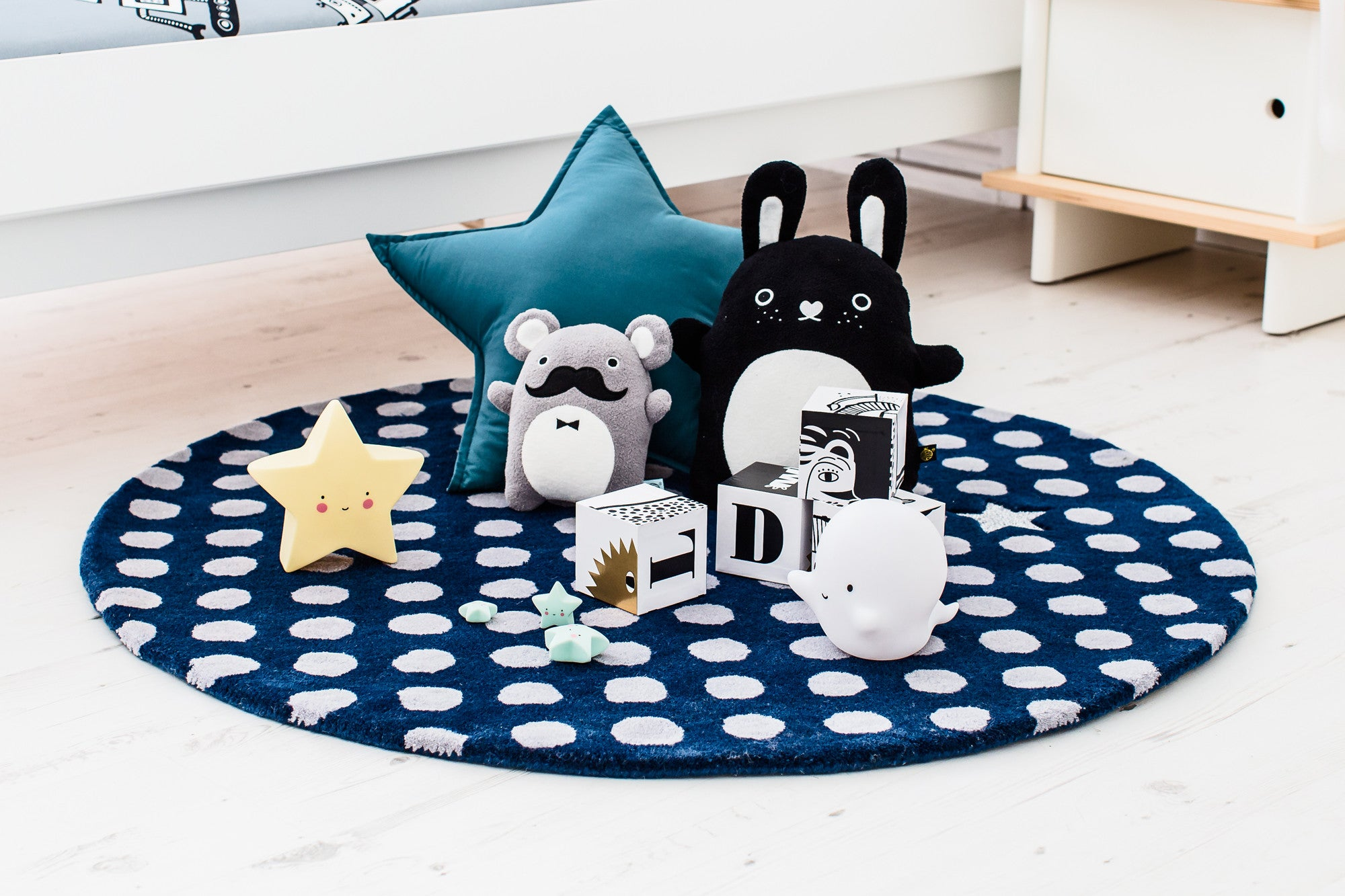 One and Only Star Rug, Noodoll Toys and Children's Accessories, available at Bobby Rabbit.