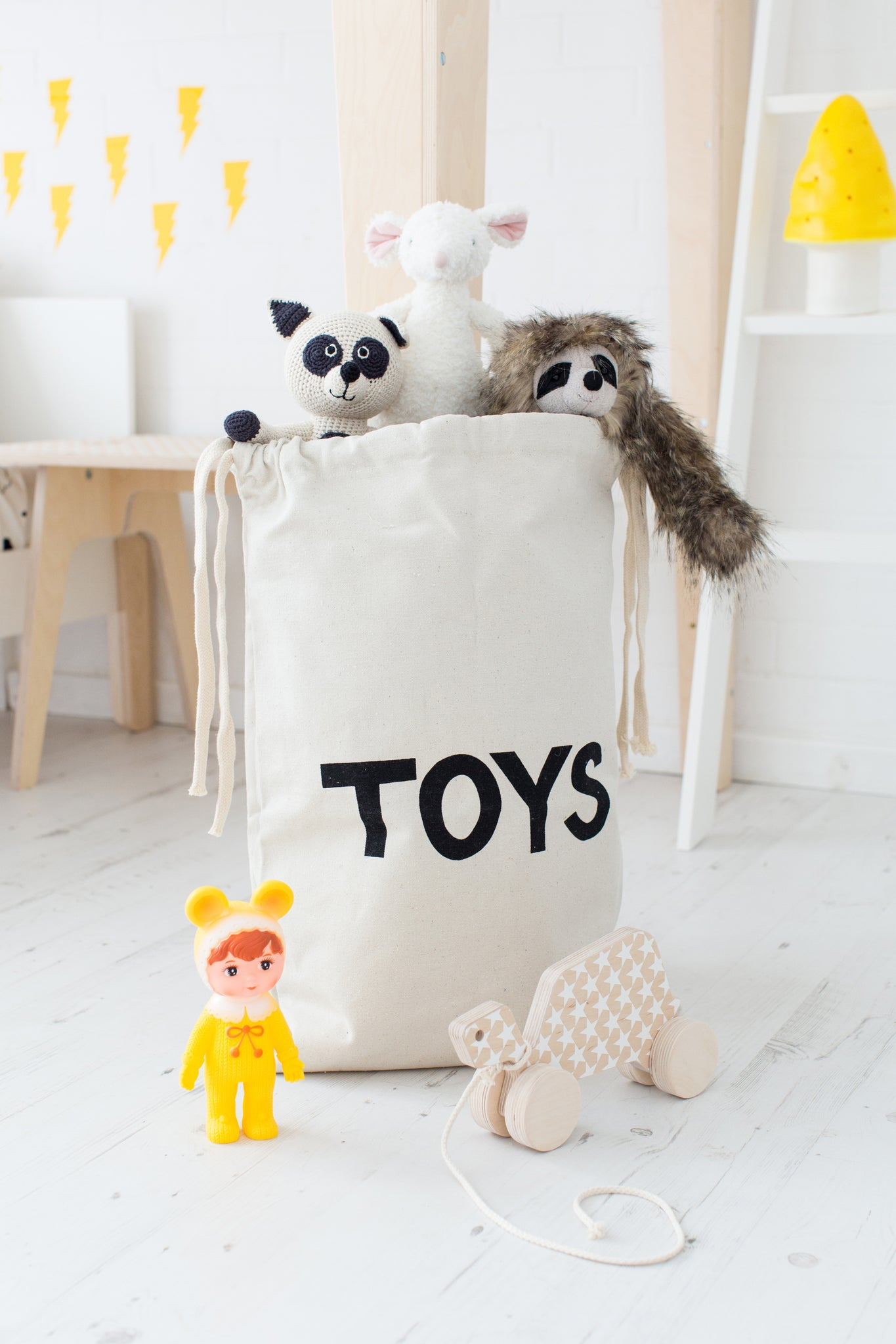 Toy storage bag by Tellkiddo, available at Bobby Rabbit