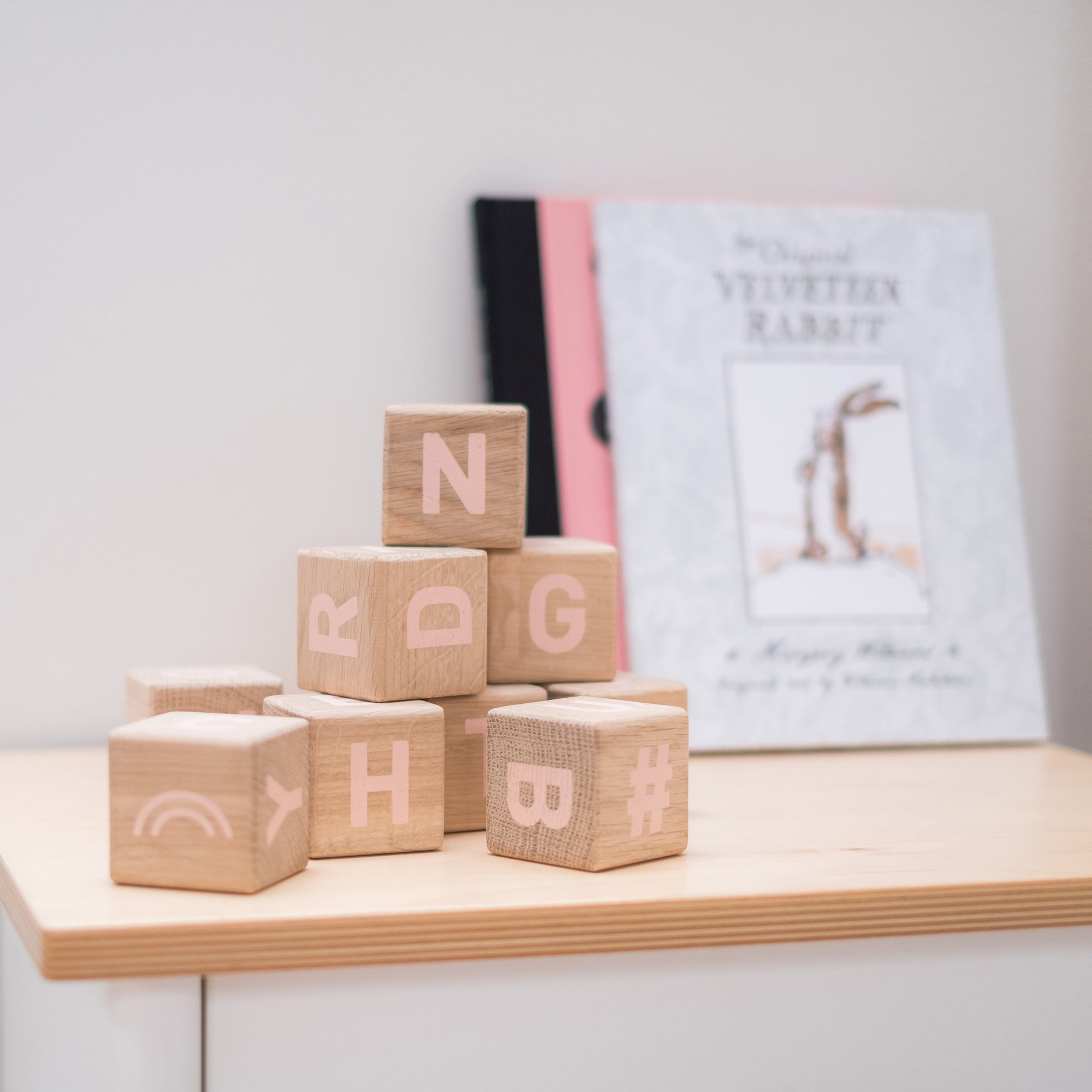 Word Cubes by Maison Deux, available at Bobby Rabbit.