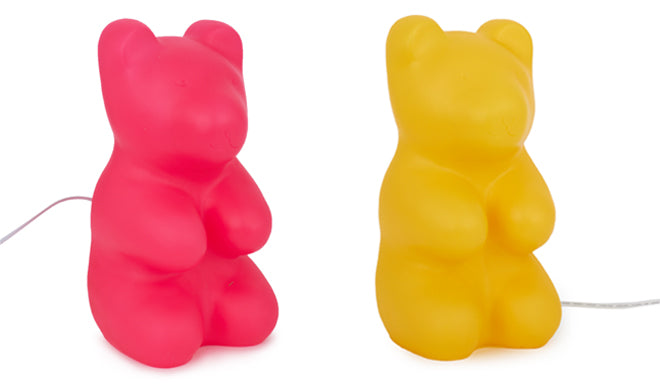 Jelly Bear lamps for children's rooms by Egmont, available from Alex and Alexa, published by Bobby Rabbit