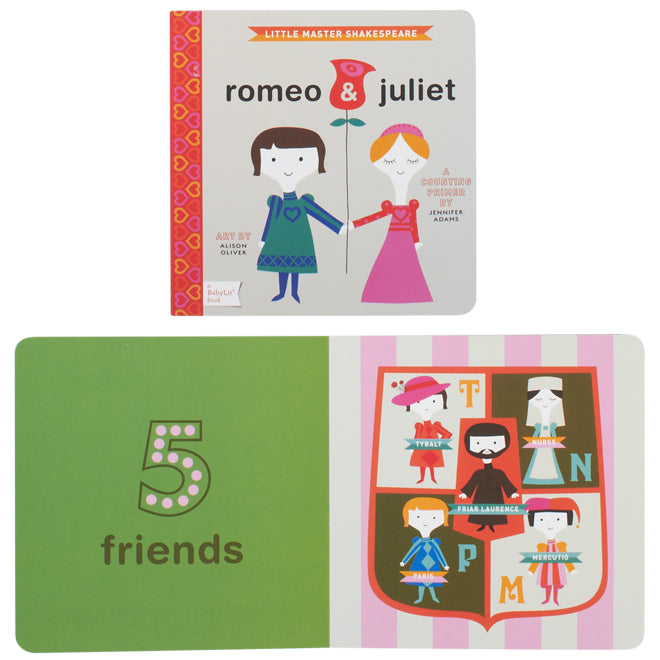 Romeo and Juliet counting book by Babylit, published by Bobby Rabbit